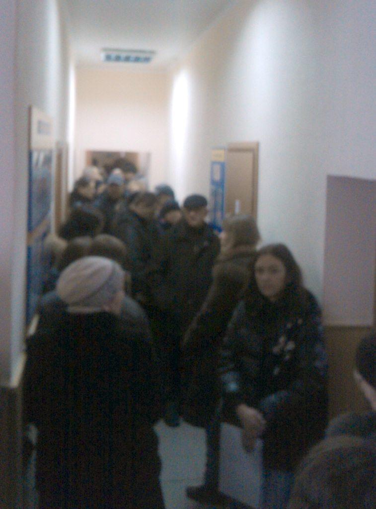 Черга у броварському районному відділі управління ДМС у Київській області